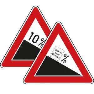 VZ 108: Verkehrsschild Gefälle