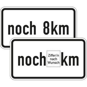 Zusatzschild noch ... km Zusatzzeichen 1001-33