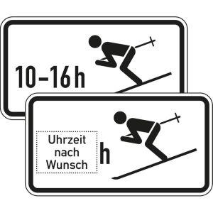Zusatzzeichen Wintersport erlaubt, zeitlich... VZ 1040-10