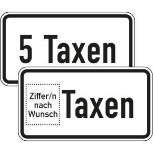 Zusatzzeichen ... Taxen Zusatzschild mit VZ 1050-31