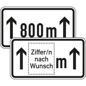 Zusatzschild Auf ... m Zusatzzeichen VZ 1001-30