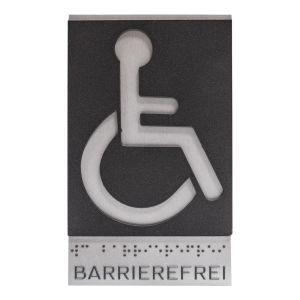 Taktiles Türschild - WC Behinderte / Barrierefrei