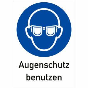 Kombi-Gebotsschilder - Augenschutz benutzen (ISO 7010)