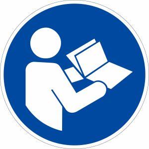 Gebotszeichen - Anleitung beachten nach ISO 7010 (M 002)