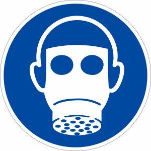 Gebotszeichen - Atemschutz benutzen nach ISO 7010 (M 017)