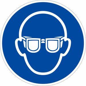 Gebotszeichen - Augenschutz benutzen nach ISO 7010 (M 004)