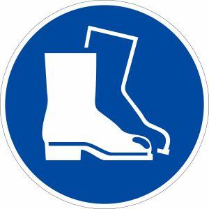 Gebotszeichen - Fußschutz benutzen nach ISO 7010 (M 008)
