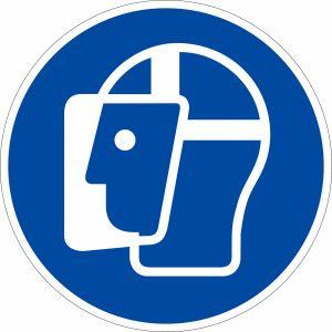 Gebotszeichen - Gesichtsschutz benutzen nach ISO 7010 (M 013)