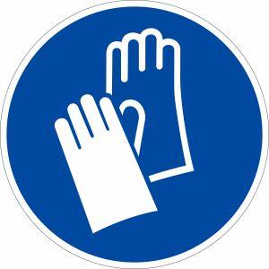 Gebotszeichen - Handschutz benutzen nach ISO 7010 (M 009)