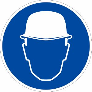 Gebotszeichen - Kopfschutz benutzen (BGV A8 M 02)