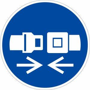 Gebotszeichen - Sicherheitsgurt benutzen nach ISO 7010 (M 020)