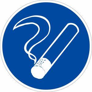 Gebotszeichen - Rauchen gestattet
