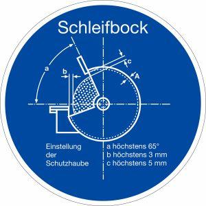 Gebotszeichen - Schleifbock