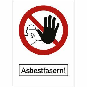 Kombischild Asbestfasern nach TRGS 519, Anlage 2a