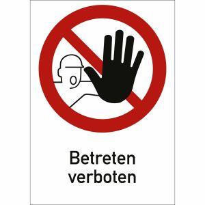 Kombischild Betreten verboten