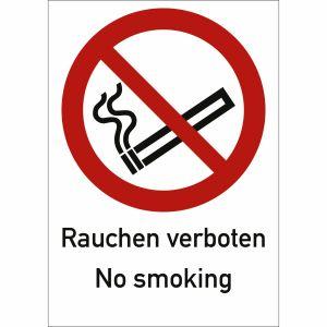 Kombischild Rauchen verboten No smoking nach ISO 7010