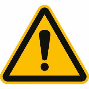 Warnschild Gefahrenstelle als Warnzeichen nach ISO 7010 (W 001) - Schild international gültig