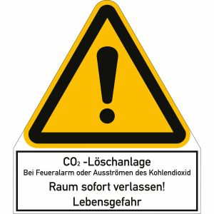 Kombischild CO2-Löschanlage