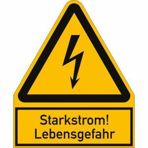 Kombischild Starkstrom! Lebensgefahr