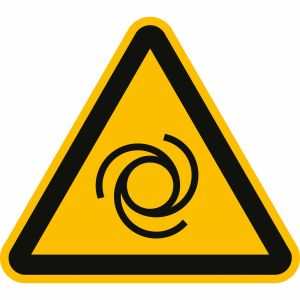 Warnung vor automatischem Anlauf nach ISO 7010 (W 018)