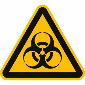 Warnung vor Biogefährdung nach ISO 7010 (W 009)