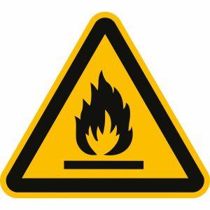 Warnung vor feuergefährlichen Stoffen nach ISO 7010 (W 021)