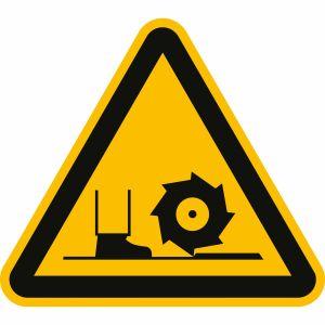 Warnung vor Fräswelle nach DIN 4844-2 (W 022)