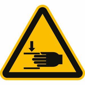 Warnung vor Handverletzungen nach ISO 7010 (W 024)