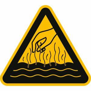 Warnung vor heißen Flüssigkeiten und Dämpfen
