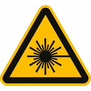 Warnung vor Laserstrahl nach ISO 7010 (W 004)
