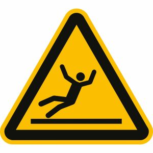 Warnung vor Rutschgefahr nach ISO 7010 (W 011)