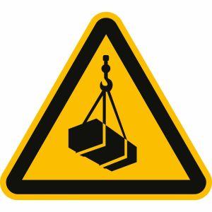 Warnung vor schwebender Last nach ISO 7010 (W 015)