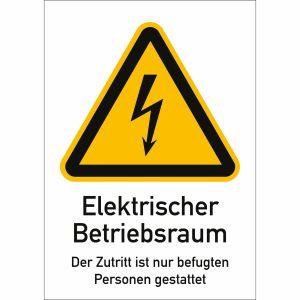 Kombischild Elektrischer Betriebsraum