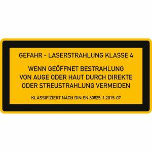 Laser Klasse 4 - Laserstrahlung - Wenn geöffnet Bestrahlung von Auge oder Haut durch direkte oder Streustrahlung vermeiden