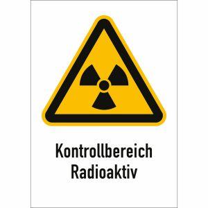Kombischild Kontrollbereich Radioaktiv