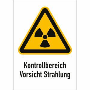 Kombischild Kontrollbereich Vorsicht Strahlung