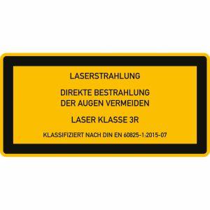 Laser Klasse 3R - Laserstrahlung - Direkte Bestrahlung der Augen vermeiden