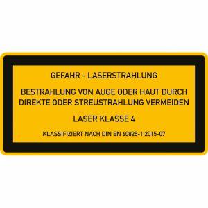Laser Klasse 4 - Laserstrahlung - Bestrahlung von Auge oder Haut durch direkte oder Streustrahlung vermeiden