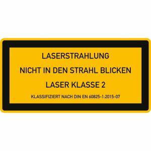 Laser Klasse 2 - Laserstrahlung - Nicht in den Strahl blicken