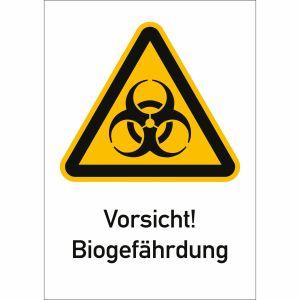Kombischild Vorsicht! Biogefährdung