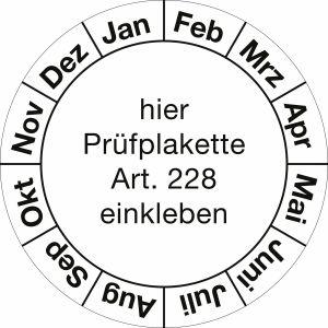 Grundplaketten - Januar bis Dezember