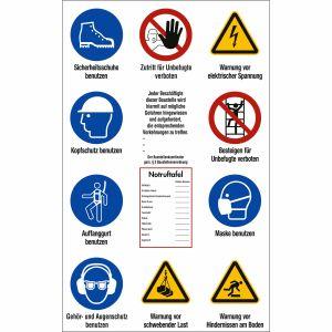 Baustellen-Sicherheitsschild