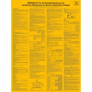 Merkblatt für die Brandbekämpfung im Bereich elektrischer Anlagen