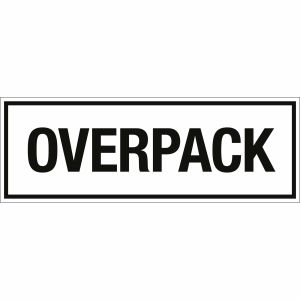 Transportkennzeichen Overpack