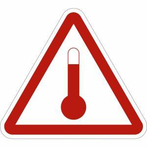 Gefahrzettel Stoffe, die in erwärmtem Zustand befördert werden