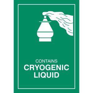 Gefahrzettel Tiefgekühlte Flüssigkeit (Cryogenic Liquid)