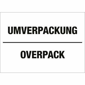 Transportkennzeichen Umverpackung / Overpack