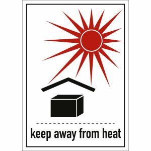 Transportkennzeichen Vor Hitze schützen (keep away from heat)