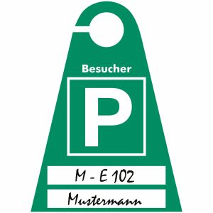 Parkausweis Für Besucher-Parkplätze