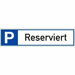 Parkplatzreservierer Reserviert Schild